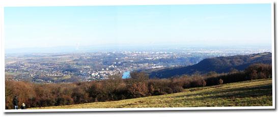 Monts du Lyonnais, la vue
