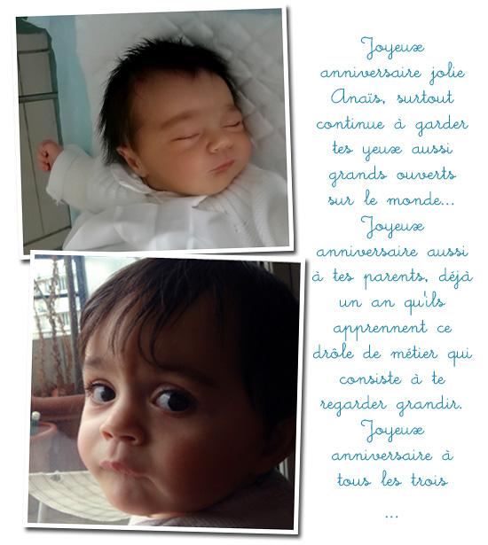 Anaïs a 1 an