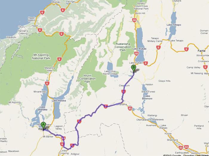 route de Wanaka à Twizel